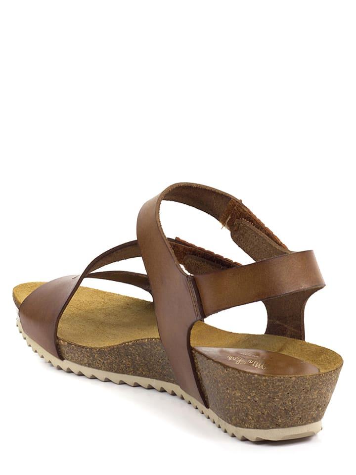 Mia Loé Leder-Sandalen in Braun