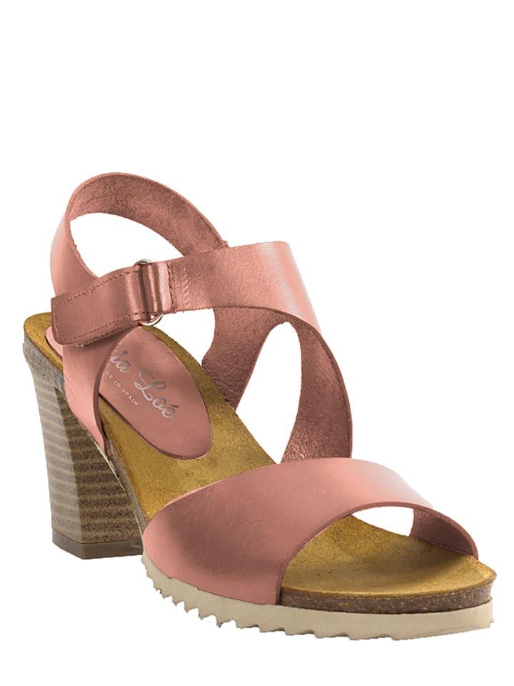 Mia Loé Leder-Sandaletten in Rose