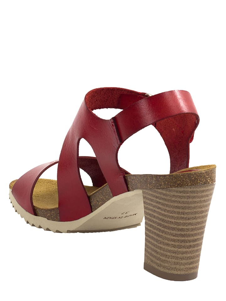 Mia Loé Leder-Sandaletten in Rot