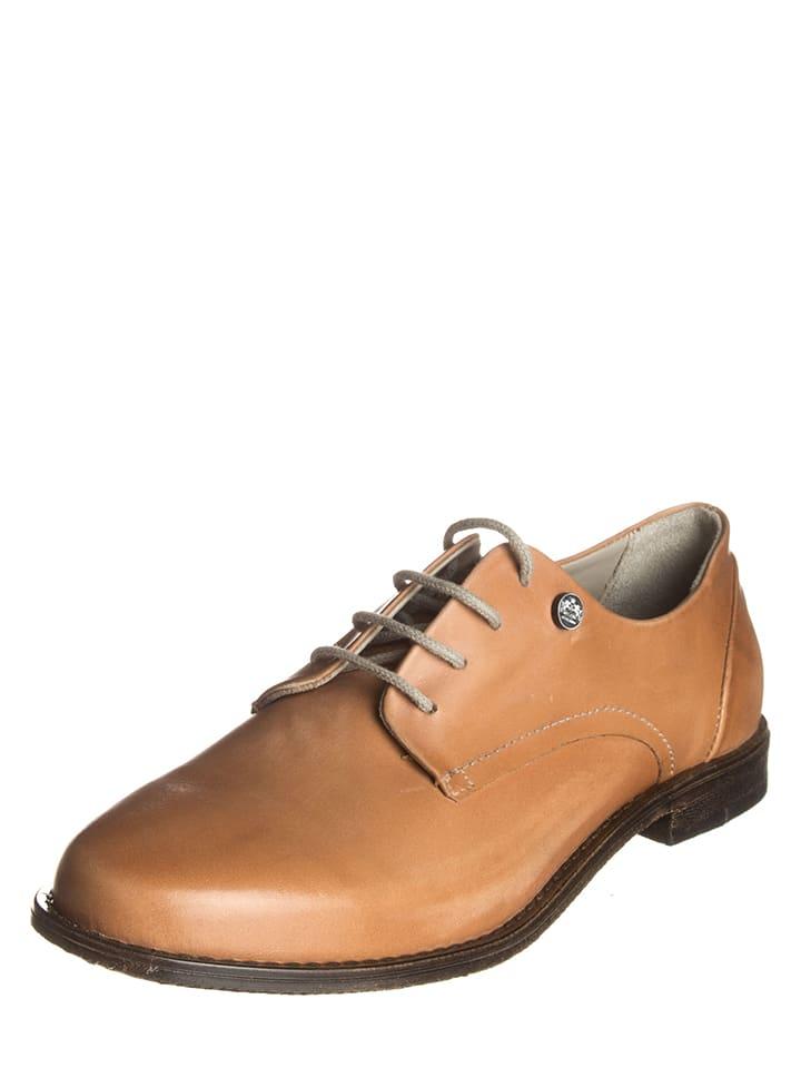 Otto Kern Chaussures à lacets en cuir - marron clair