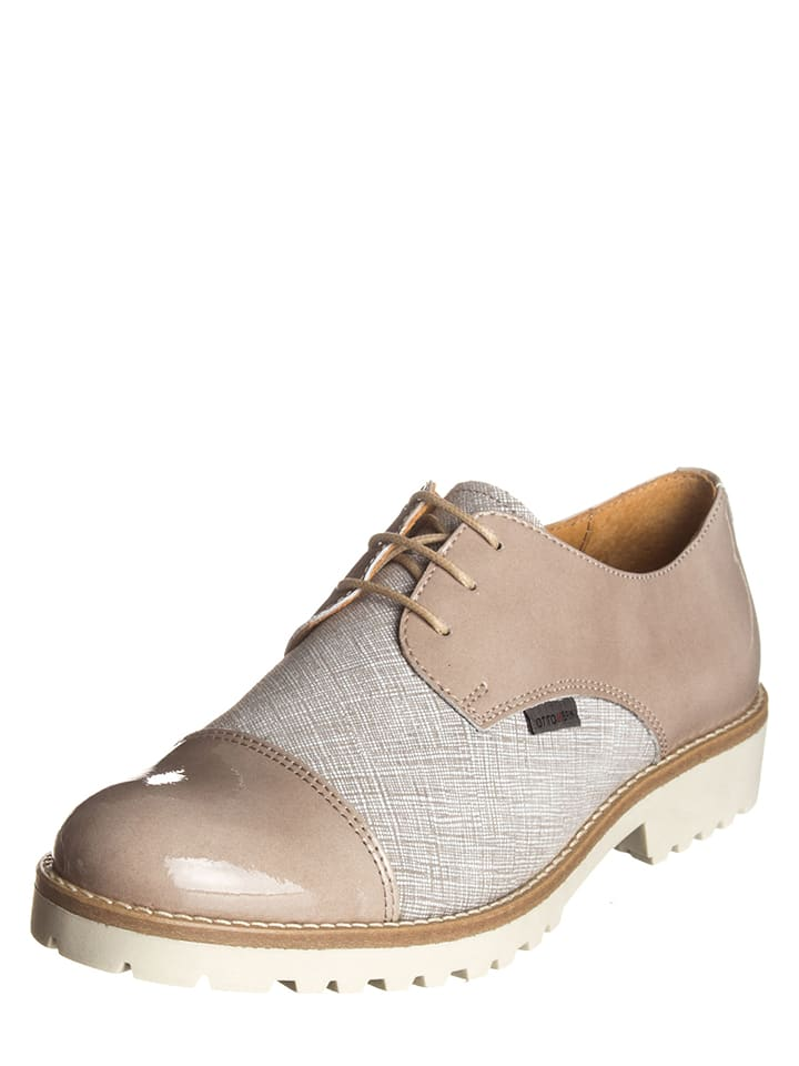Otto Kern Chaussures à lacets en cuir - taupe/gris