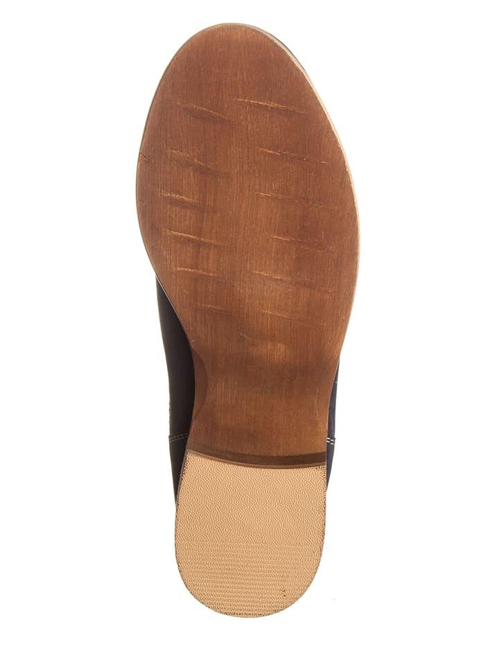 Otto Kern Leder-Boots in Dunkelblau