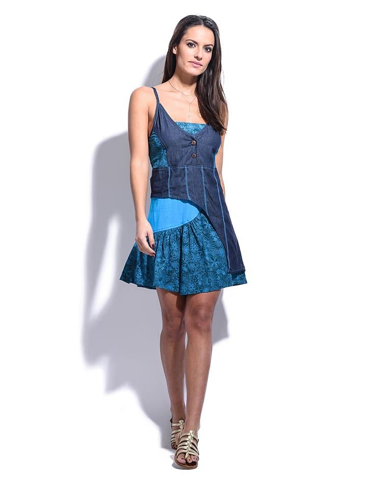 """Namaste Kleid """"Elisa"""" in Blau"""