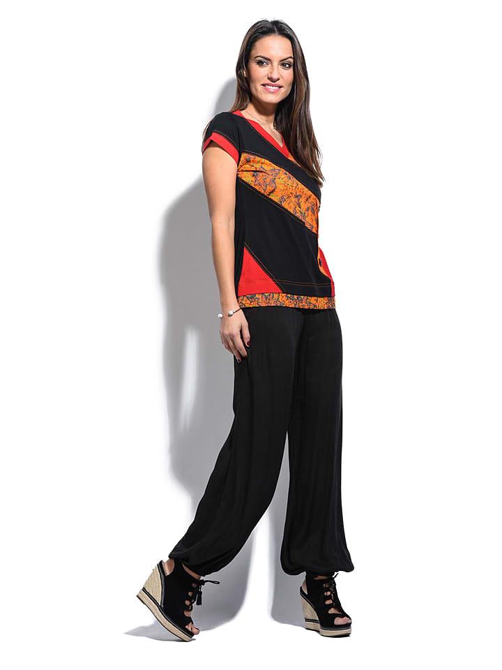 "Namaste Shirt ""Melina"" in Rot/ Schwarz"
