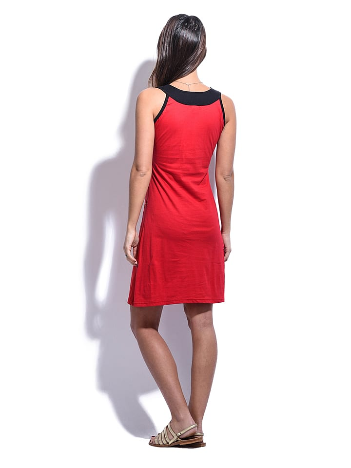 "Namaste Kleid ""Soline"" in Rot/ Bunt"