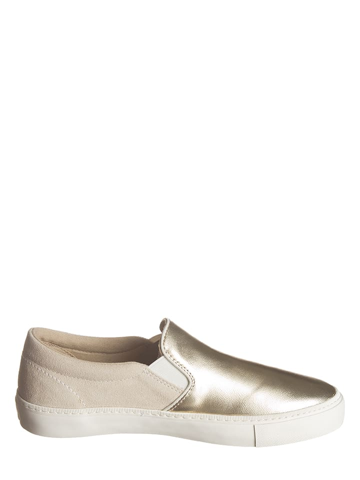 GANT Footwear Leder-Slipper in Gold