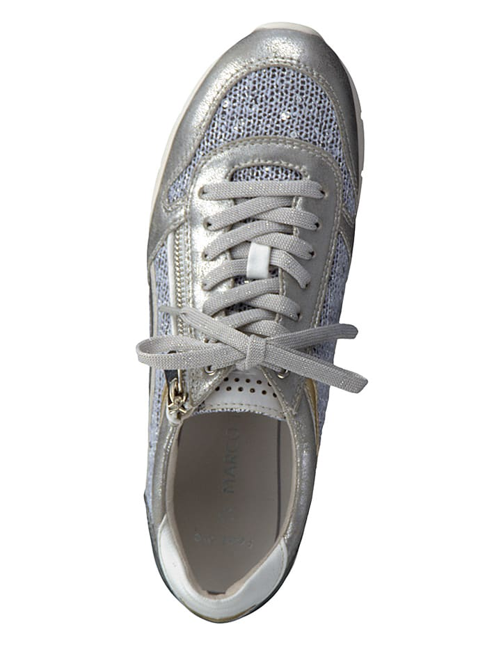 Marco Tozzi Sneakers in Silber/ Blau