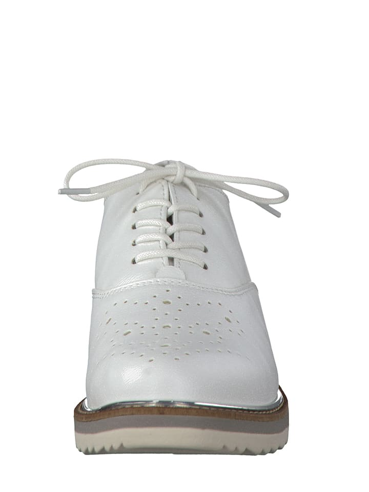 Marco Tozzi Schnürschuhe in Weiß