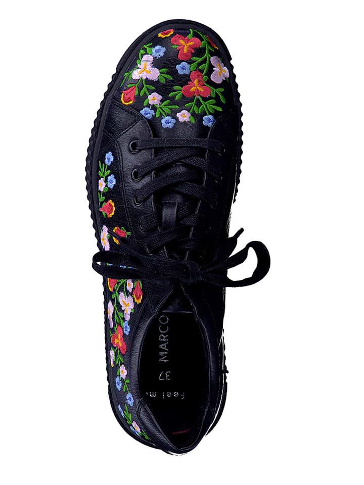 Marco Tozzi Sneakers in Schwarz/ Bunt