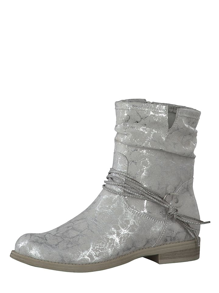 Marco Tozzi Boots in Grau/ Silber