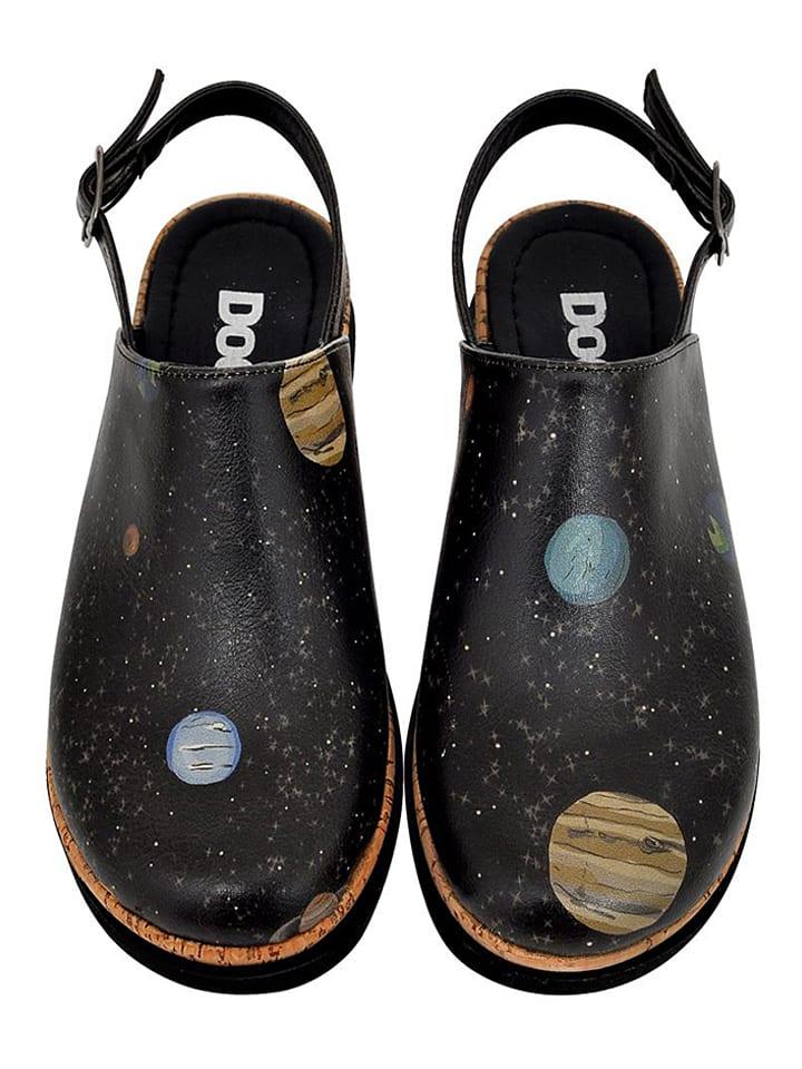 """Dogo Halbsandalen """"Planets"""" in Schwarz/ Bunt"""