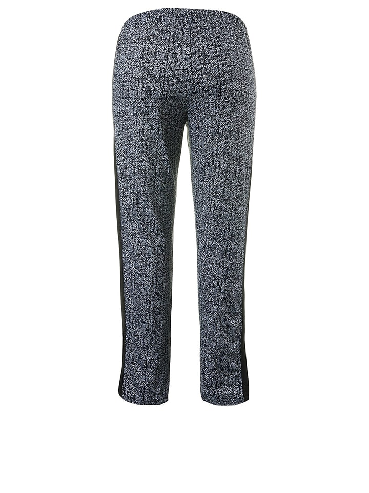 Ulla Popken Pyjama in Schwarz/ Weiß
