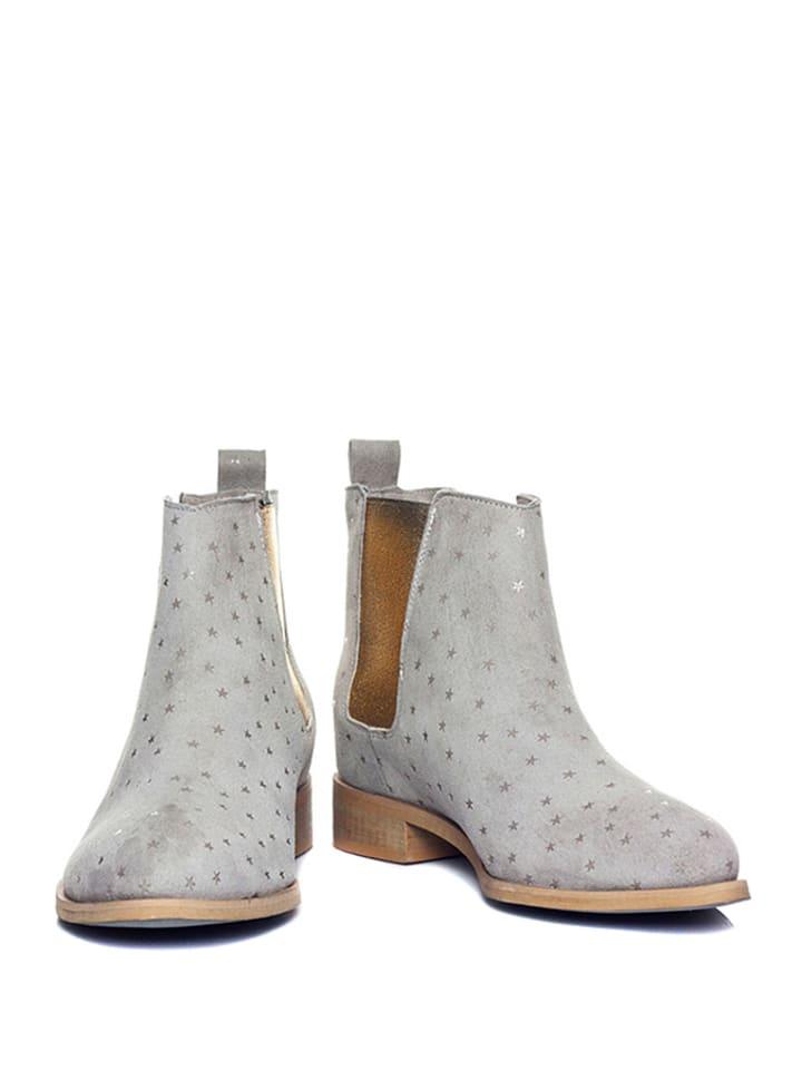 "Loft37 Leder-Chelsea-Boots ""Grove"" in Grau"
