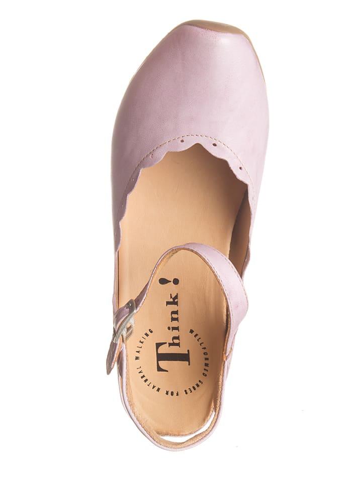 """Think! Leder-Sandaletten """"Aida"""" in Rosa"""