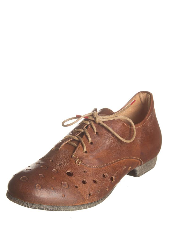 "Think! Chaussures à lacets en cuir ""Ebbs"" - marron clair"
