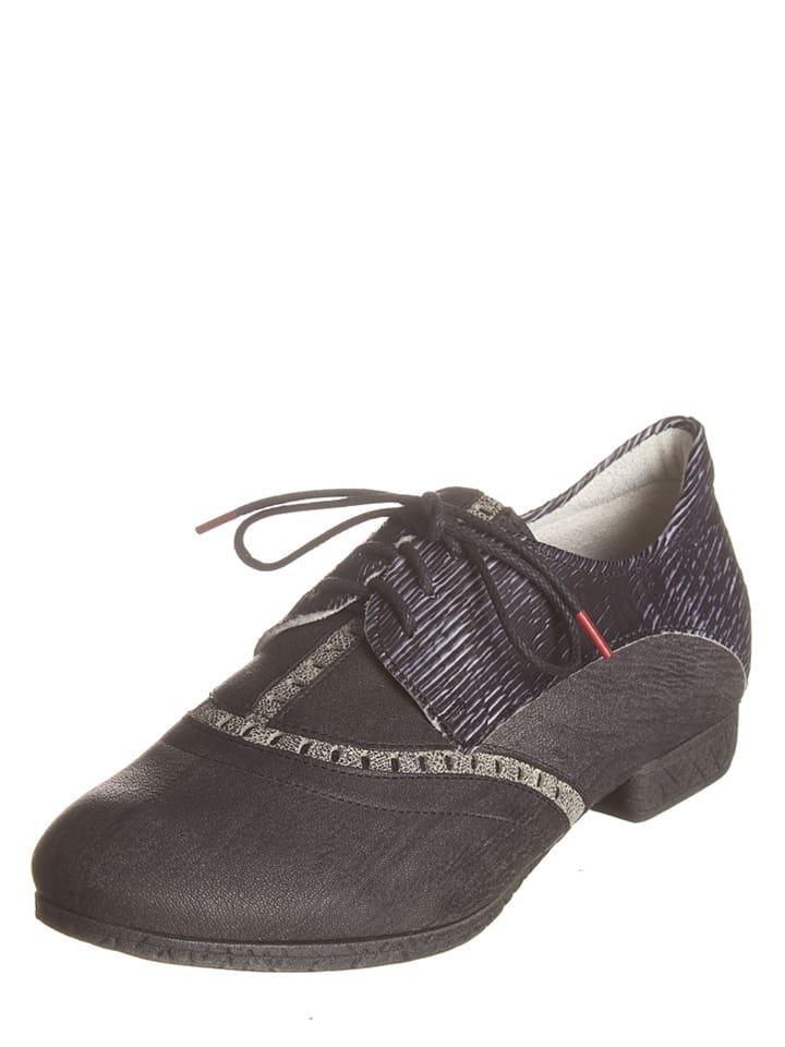 "Think! Chaussures à lacets en cuir ""Ebbs"" - anthracite"