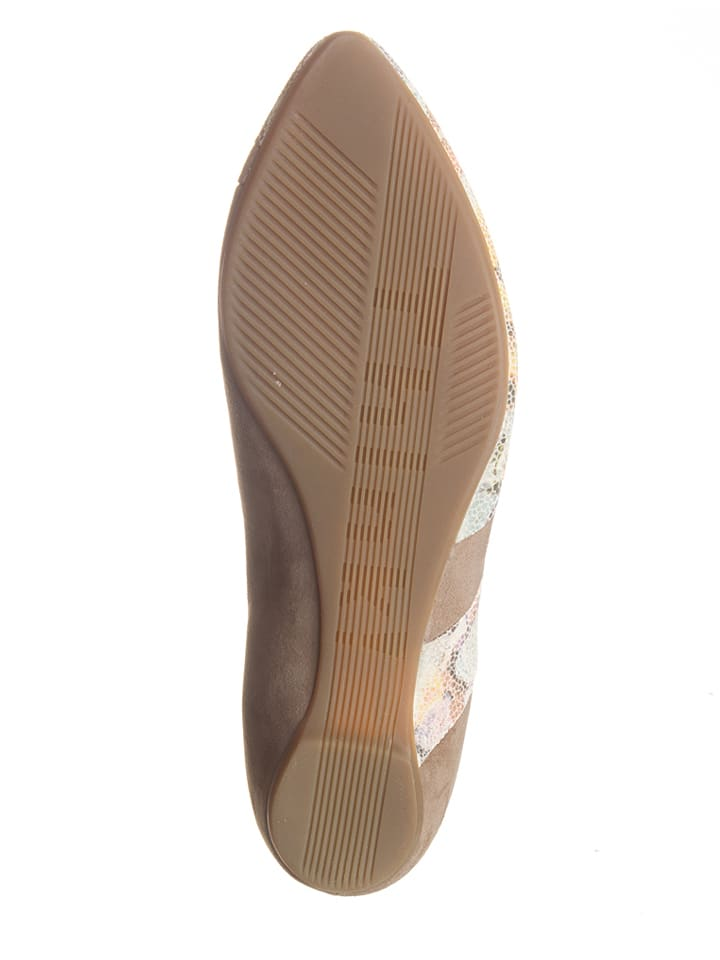 "Think! Leder-Pumps ""Imma"" in Beige/ Creme"