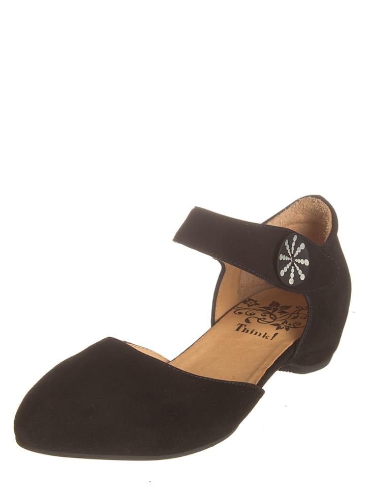 "Think! Leder-Sandaletten ""Imma"" in Schwarz"
