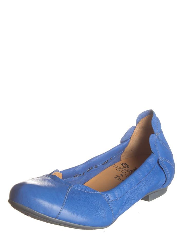"Think! Leder-Ballerinas ""Balla"" in Blau"