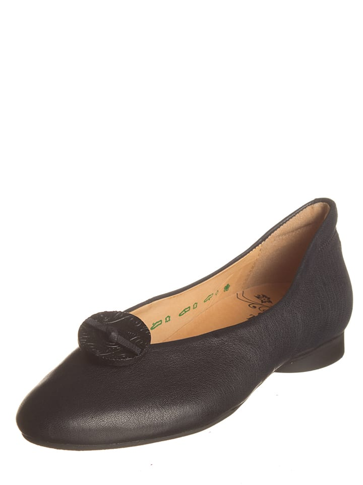 "Think! Leder-Ballerinas ""Guad"" in Schwarz"