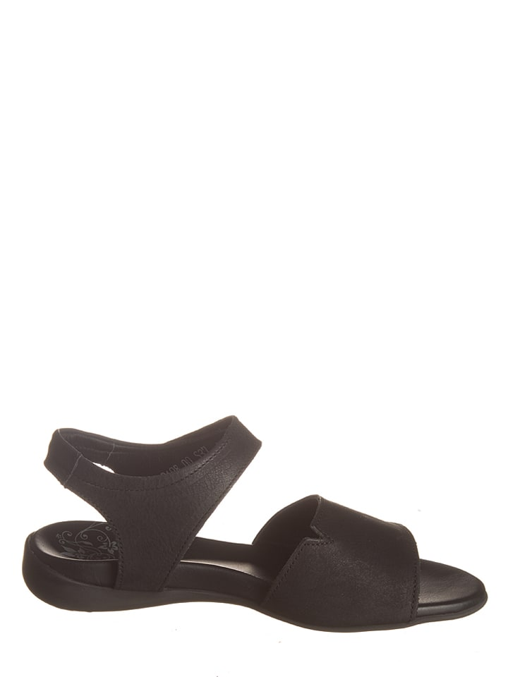"Think! Leder-Sandalen ""Jaeh"" in Schwarz"