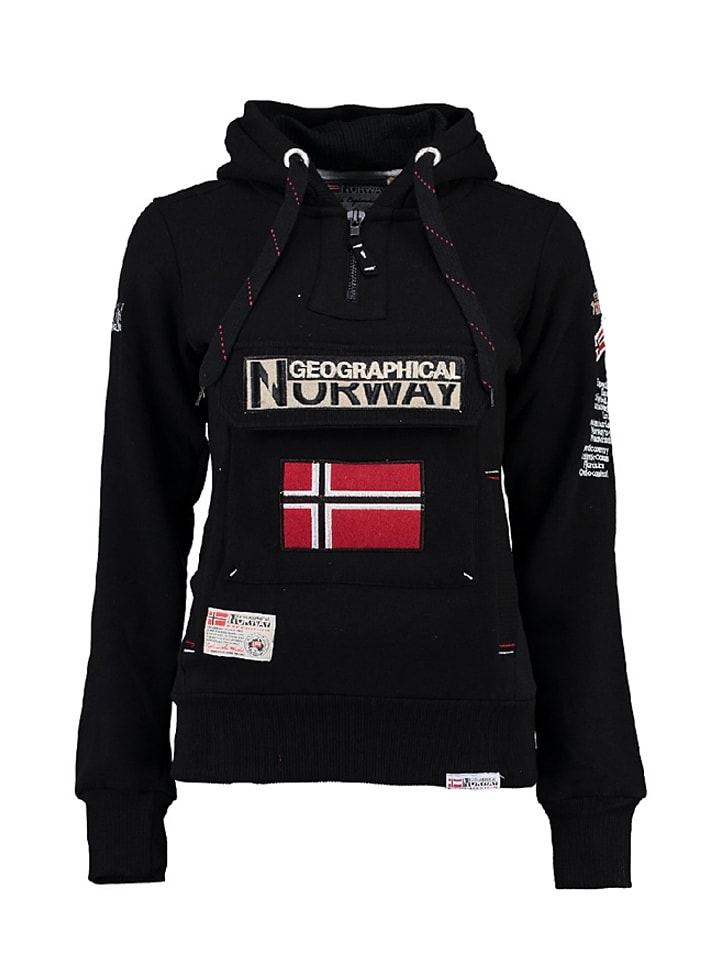 "Geographical Norway Sweatshirt ""Gymclass"" in Schwarz"
