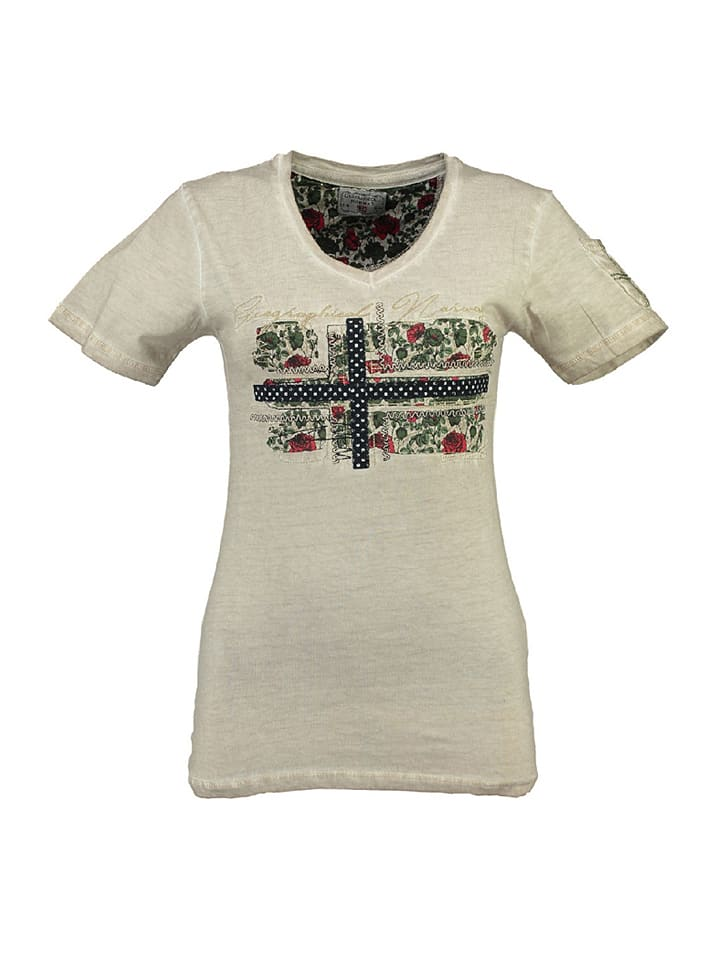 """Geographical Norway Shirt """"Jbeaute"""" in in Beige"""