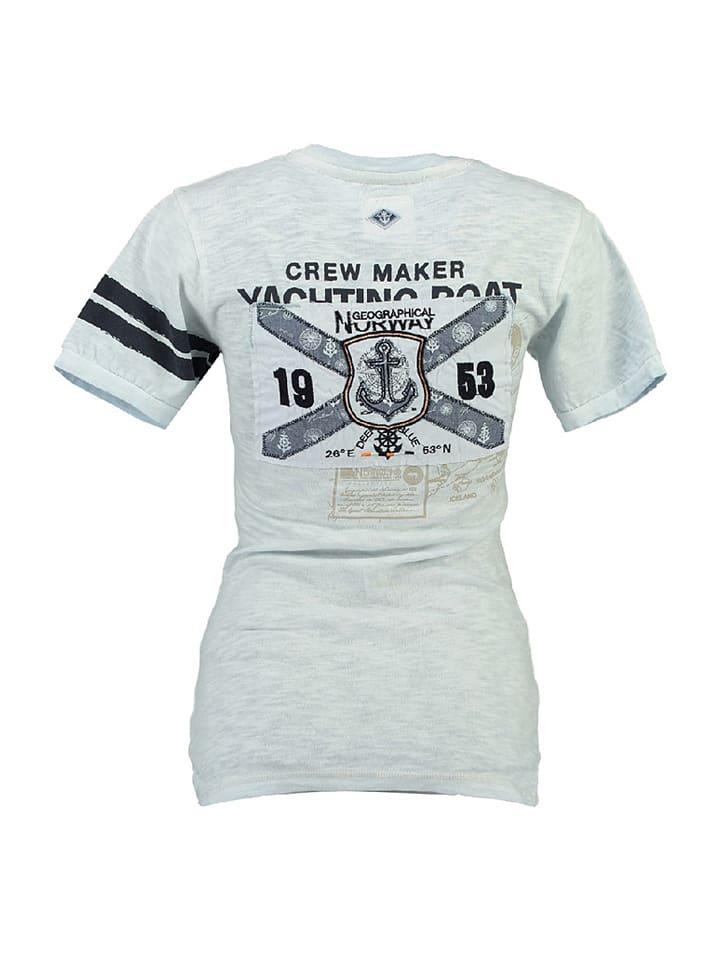"""Geographical Norway Shirt """"Jrose"""" in Hellblau"""