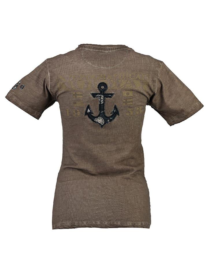 """Geographical Norway Shirt """"Judefruit"""" in Beige"""