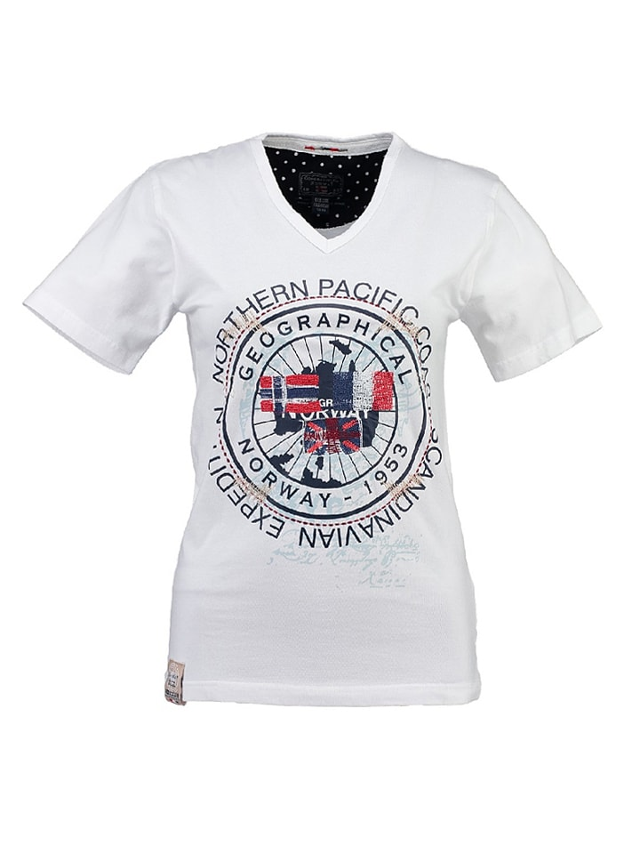 """Geographical Norway Shirt """"Justa"""" in Weiß"""