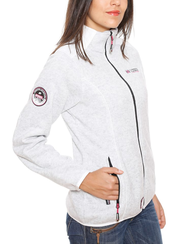 "Geographical Norway Fleecejacke ""Tina"" in Weiß"