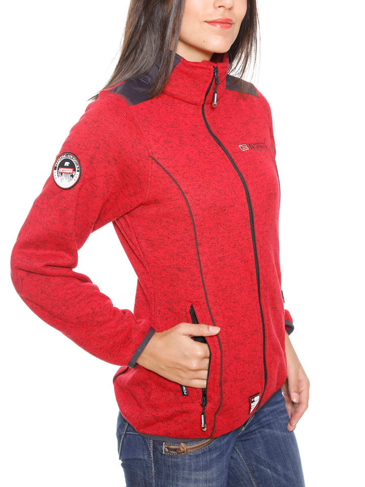 """Geographical Norway Fleecejacke """"Tina"""" in Rot"""
