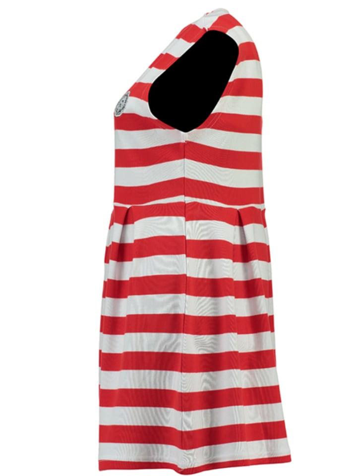 Geographical Norway Kleid Jesmeralda in Rot/ Weiß