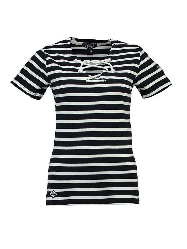 "Geographical Norway Shirt ""Jolipop"" in Dunkelblau/ Weiß"