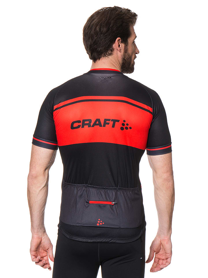 Craft Fahrradtrikot in Schwarz/ Orange