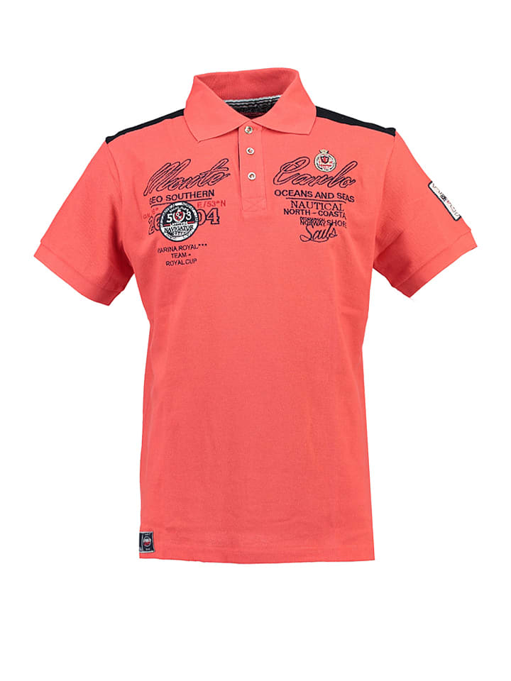 """Geographical Norway Poloshirt """"Kare"""" in Koralle"""