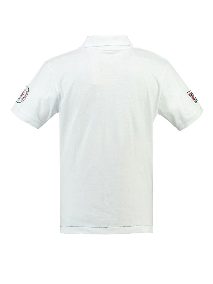 """Geographical Norway Poloshirt """"Kreole"""" in Weiß"""