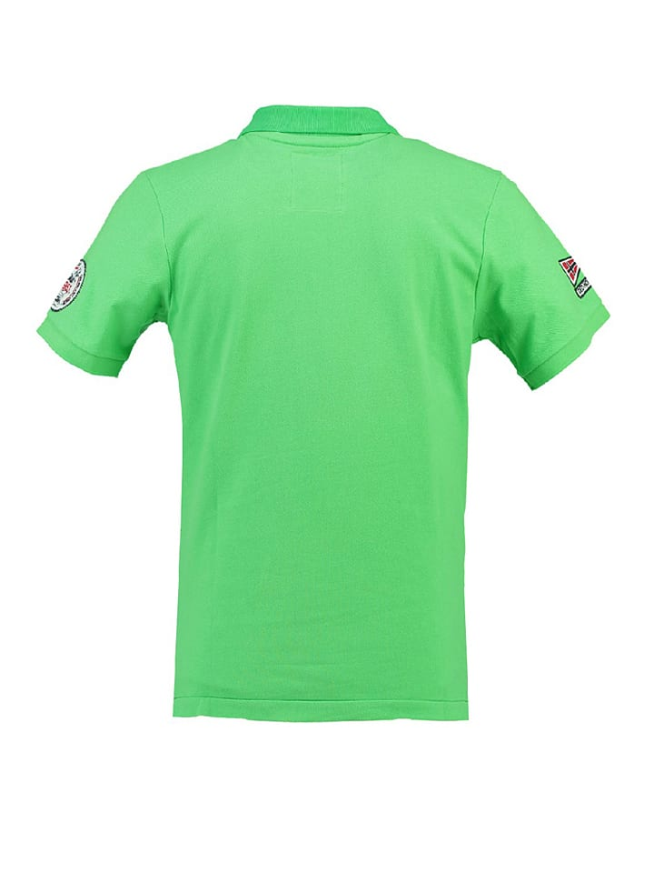 "Geographical Norway Poloshirt ""Kreole"" in Grün"