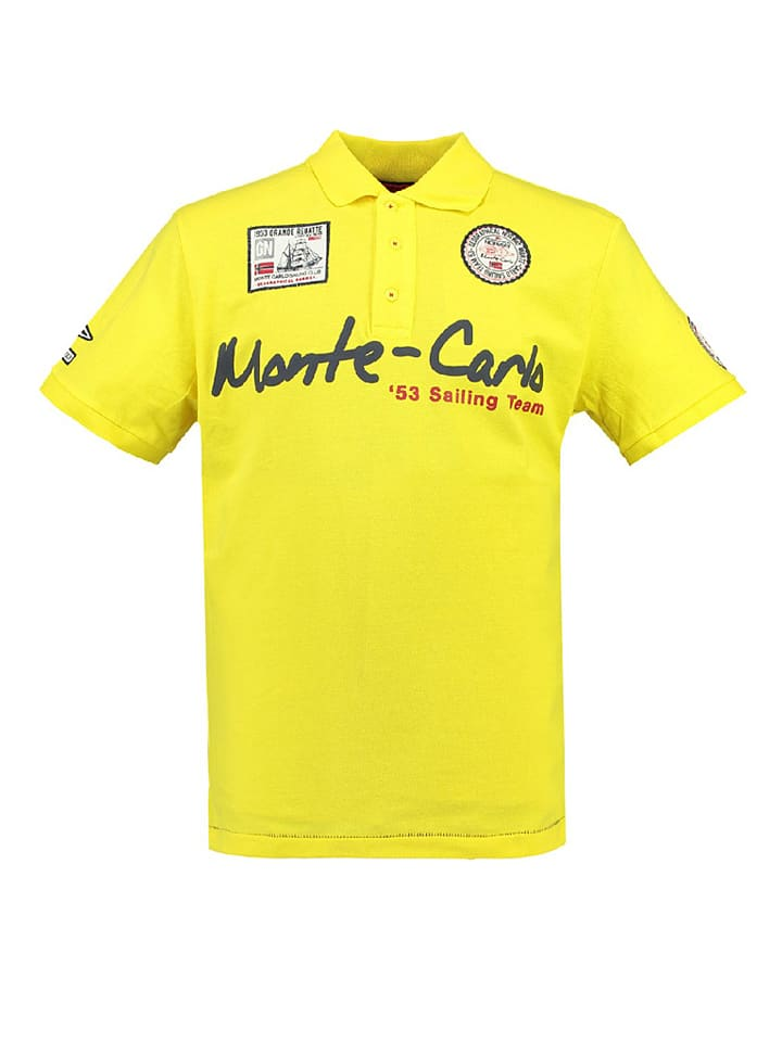 "Geographical Norway Poloshirt ""Kreole"" in Gelb"