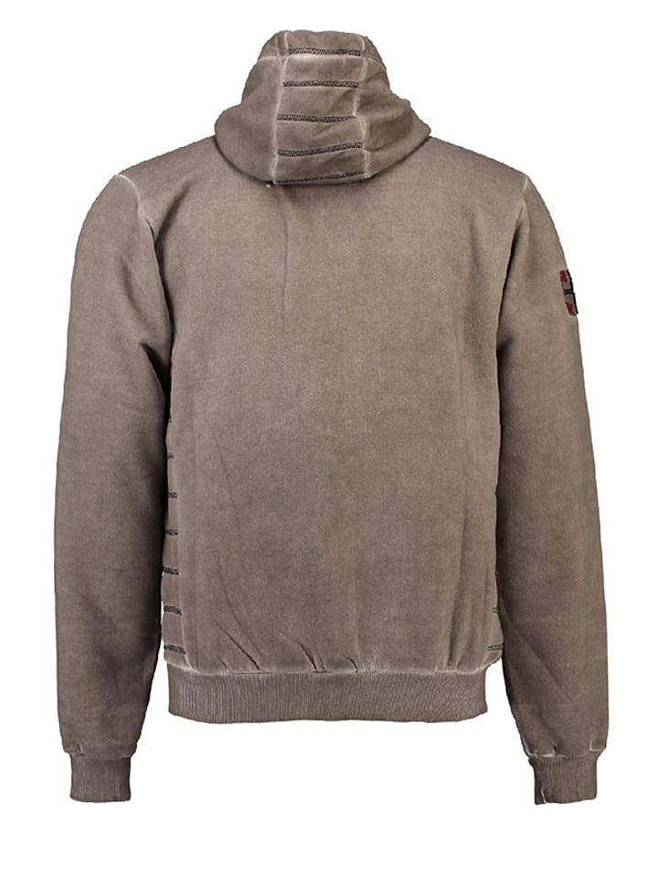 Geographical Norway Sweatjacke Gosstone in Taupe