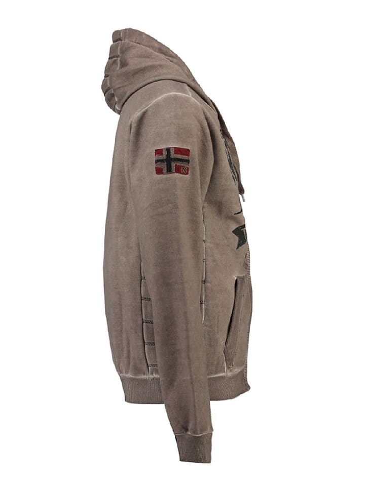 "Geographical Norway Sweatjacke ""Gosstone"" in Taupe"