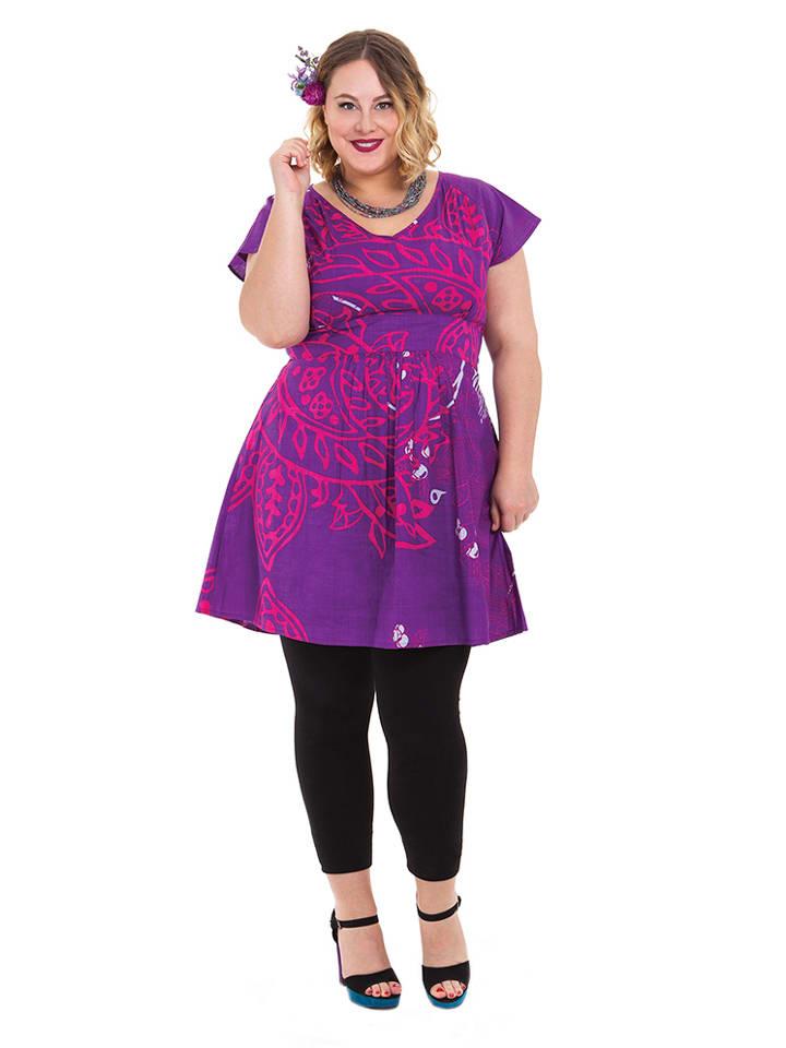 Aller Simplement Kleid in Lila/ Pink
