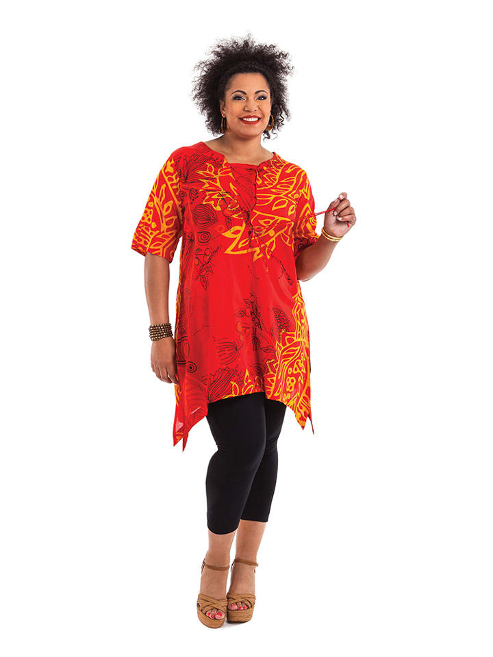Aller Simplement Tunika in Orange