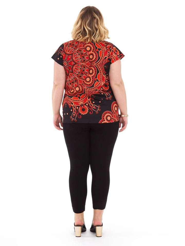 Aller Simplement Shirt in Schwarz/ Rot