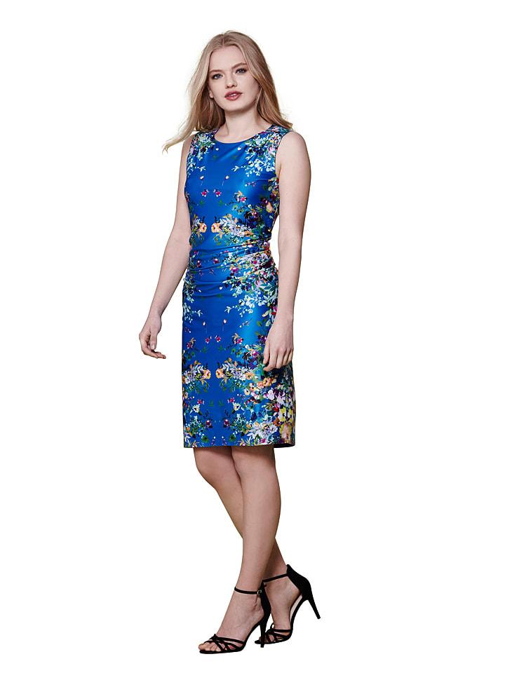 Yumi Kleid in Blau/ Bunt