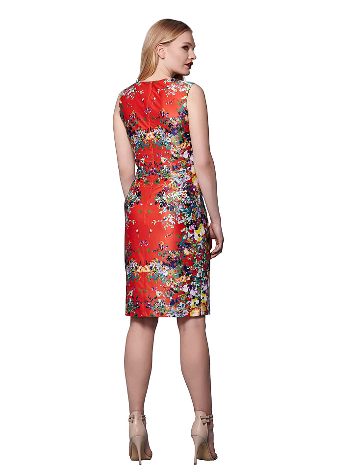 Yumi Kleid in Rot/ Bunt