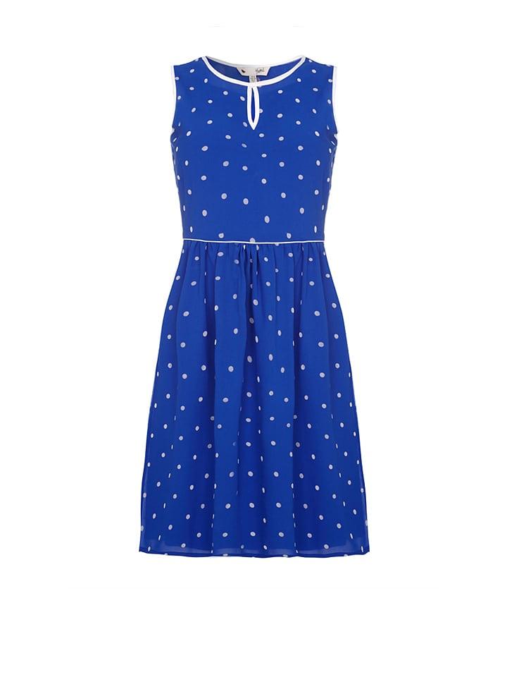 Yumi Kleid in Blau/ Wei