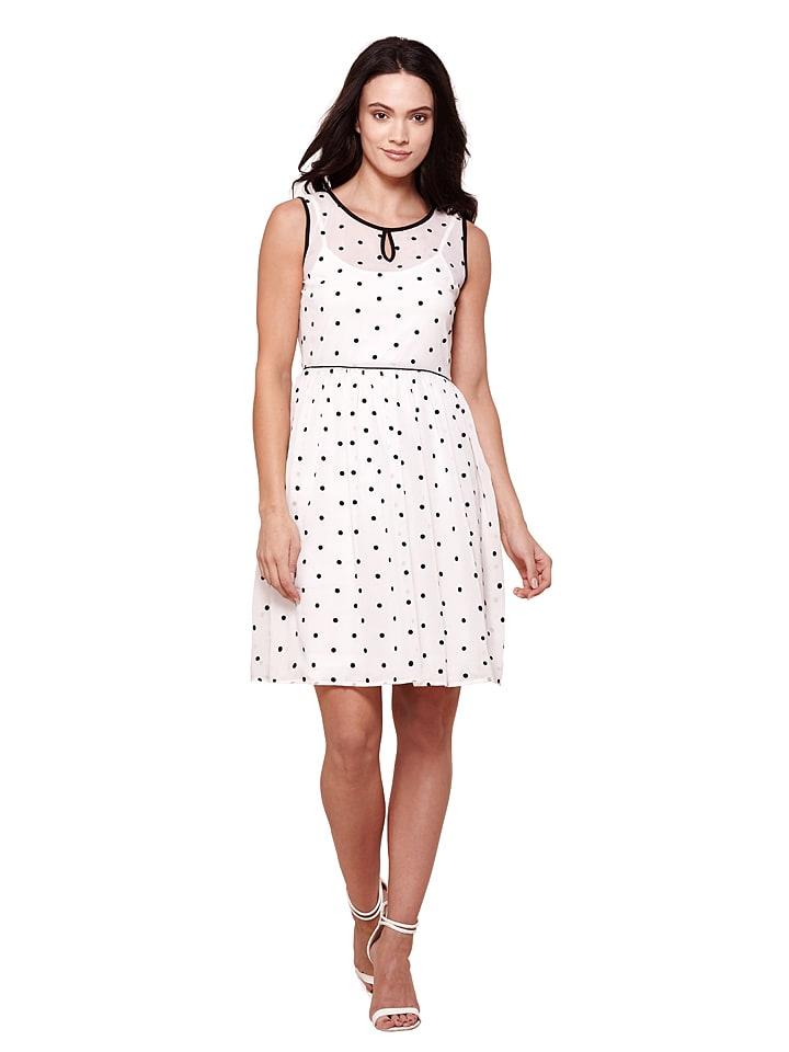 Yumi Kleid in Weiß/ Schwarz