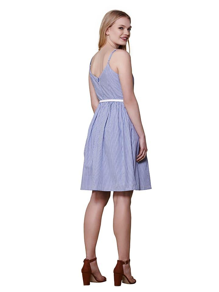 Yumi Kleid in Blau/ Weiß
