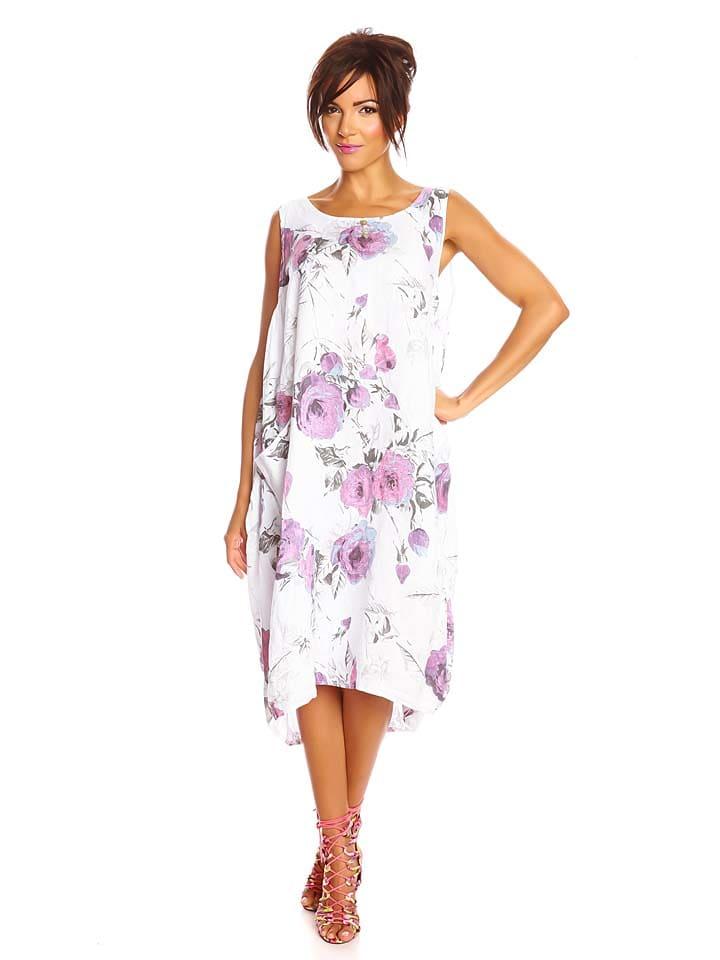 """Spécial Lin Leinen-Kleid """"Laon"""" in Weiß"""